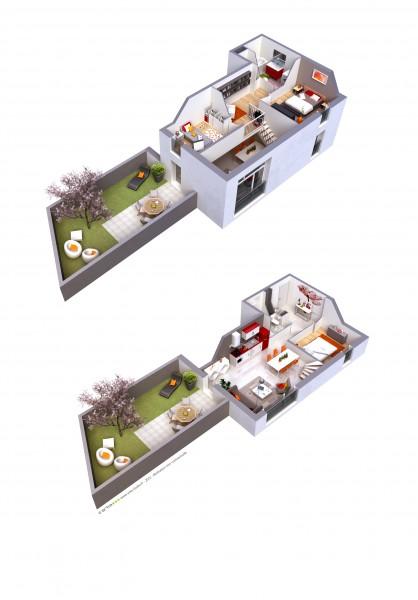 Appartement neuf bron programme bo bron original achat for Achat maison quincieux